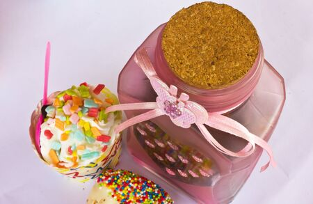 colorful of Cupcake with bottle Stock Photo - 15326750