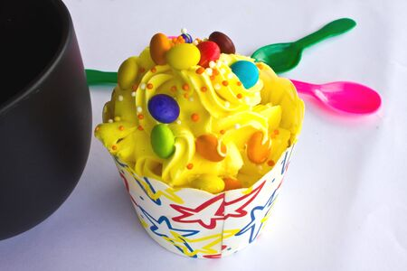 colorful of Cupcake selection photo