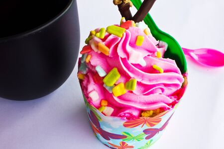 afternoon fancy cake: colorful of Cupcake selection