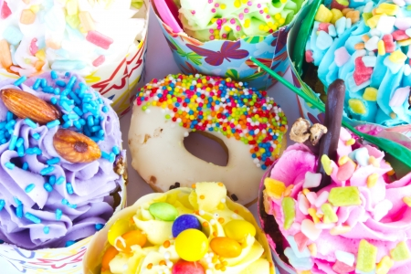 colorful of Cupcake selection Stock Photo - 15349995