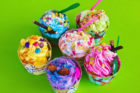 colorful of Cupcake selection Stock Photo - 15350005