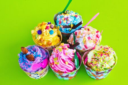 colorful of Cupcake selection Stock Photo - 15350000