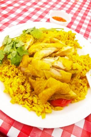 safran: Stock Photo - Chicken biryani with spices