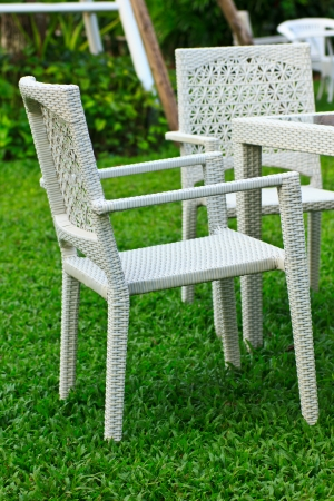 Stock Photo - beautiful chair in  garden photo