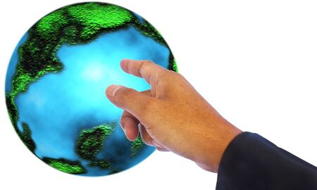 Stock Photo - Earth in hand photo