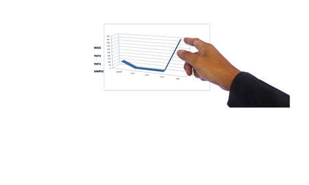 Stock Photo -Businessman  point and flow organization chart photo