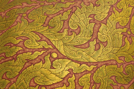 Stock Photo - traditional Thai style art painting on temple Stock Photo