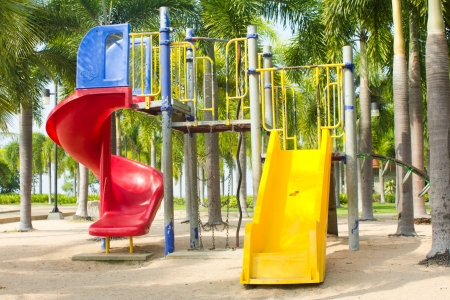 Stock Photo - a colourful children playground equipment photo