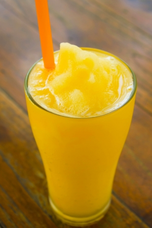 Stock Photo - Orange juice smoothie