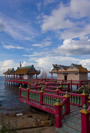 Stock Photo - Chinese style pavilion on the seaside Stock Photo