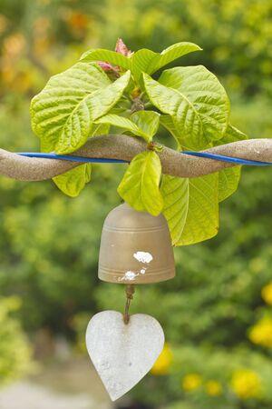 liturgy: closeup of wind bell Stock Photo