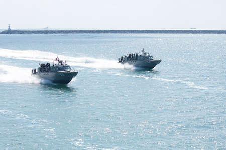 a battleship:  Observe of Thai battleship, Sattahip