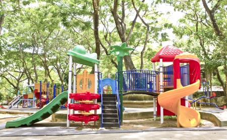 playground equipment: Stock Photo - a colourful children playground equipment. Stock Photo