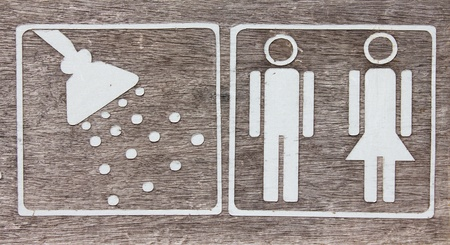 Male and female Toilet sign Stock Photo - 19682785