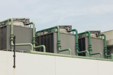 aire acondicionado: Foto de archivo - Unidad exterior de aire acondicionado