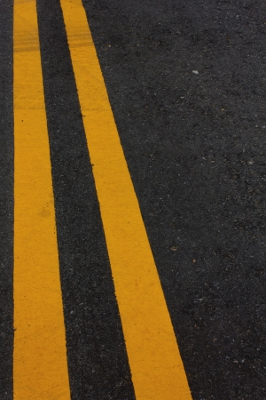 Stock Photo - Road Marking - Double Yellow Lines