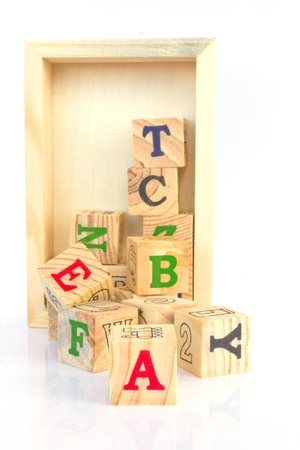 Stock Photo - Colorful alphabet letter