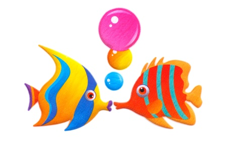 Stock Photo - sticker colorful cartoon fish photo