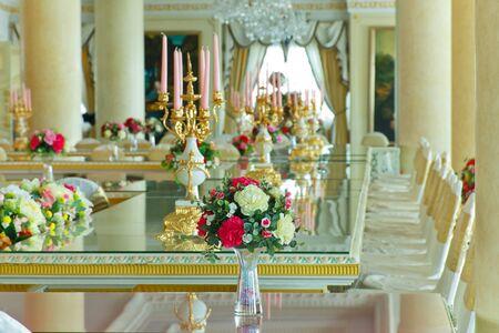 Stock Photo - Luxury Grand Dinning Room & Living Room