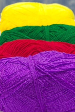 Stock Photo - colorful ball of woollen thread