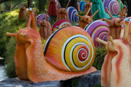 Stock Photo - colorful Shell sculpture decorate in the garden Stock Photo - 27574389