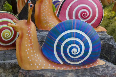 Stock Photo - colorful Shell sculpture decorate in the garden Stock Photo - 27574392