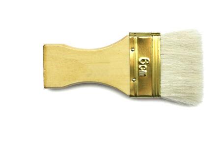 Paint Brush On White Background Stock Photo photo