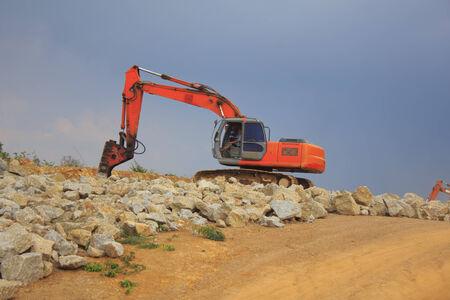 Backhoe on a Construction Site  photo