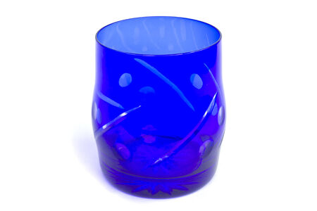 Colorful glass with different candles. - Stock Image photo