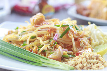 thai noodle: thai food - Stock Image Stock Photo