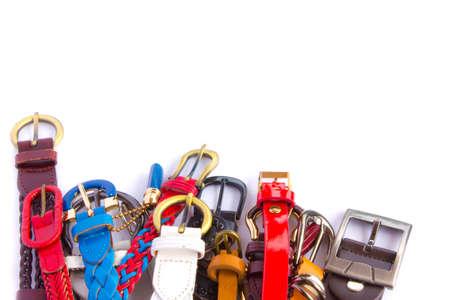belts isolated on white - Stock Image photo