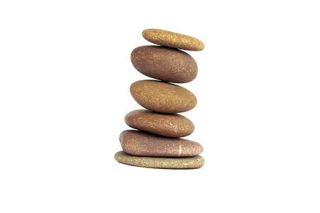 Zen stones balance concept isolated on white photo