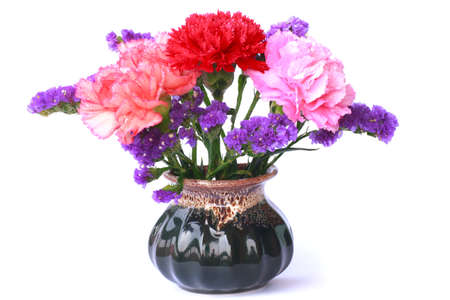 flower bunch: Colorful flower bunch in a vase Stock Photo