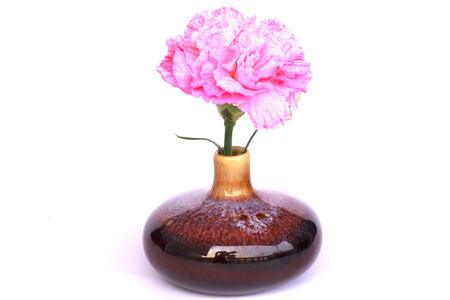 pink peony bouquet in a vase photo