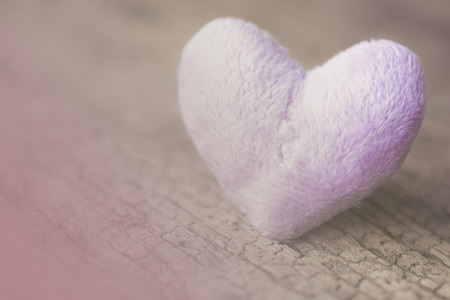 plano: On canvas textile fabric hearts-wood background