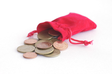 change purses: Coin from the red bag