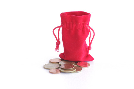 commercial activity: Coin from the red bag