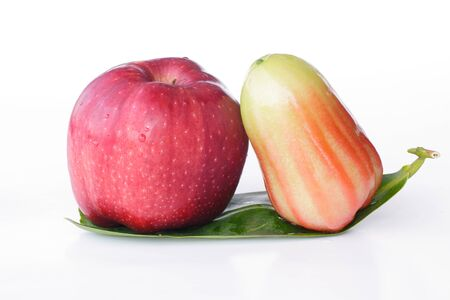 Apple & Rose apples or chomphu isolated on white background photo