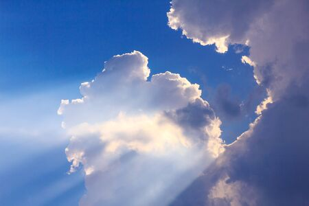midwest usa: Inspirational cloudscape backlit by sun