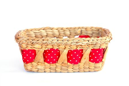 brown wicker baskets, box shaped photo