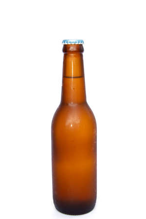 brown bottles: Brown bottles of beer on a white background