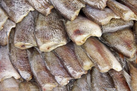 parch: Dried fishs of local food at open market,Dried fish