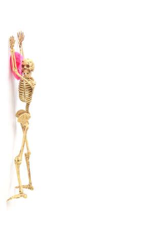 oncept: oncept Human skeleton on white background Stock Photo