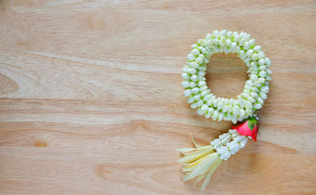 malai: Thai traditional jasmine garland