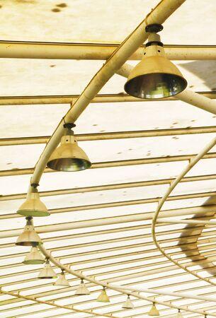 spotlight: spotlight under garden roof Stock Photo