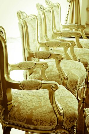 vintage furniture: victorian furniture and part of interior vintage effect
