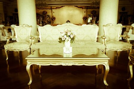 dinning room: Luxury Grand Dinning Room & Living Room vintage effect style pictures