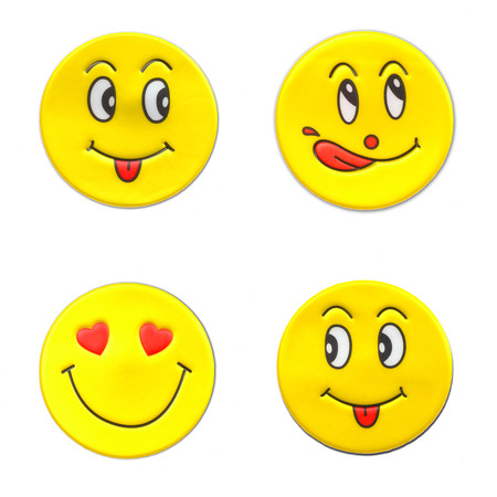 smileys: A wonderful set of smileys stickers on the theme of love