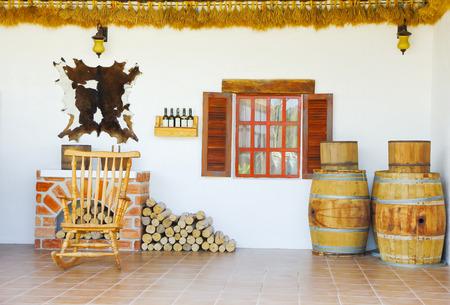 woodburning: Traditional brickwork stove and fireplace. Stock Photo