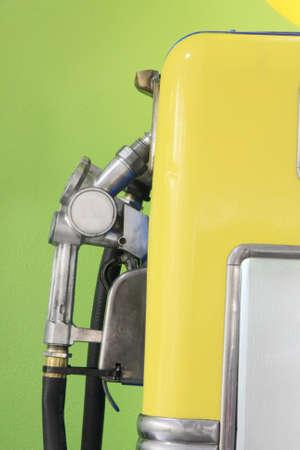 Retro fuel pump old yellow